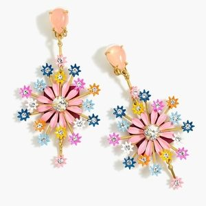 J. Crew Crystal and Blossom Earrings in Multi